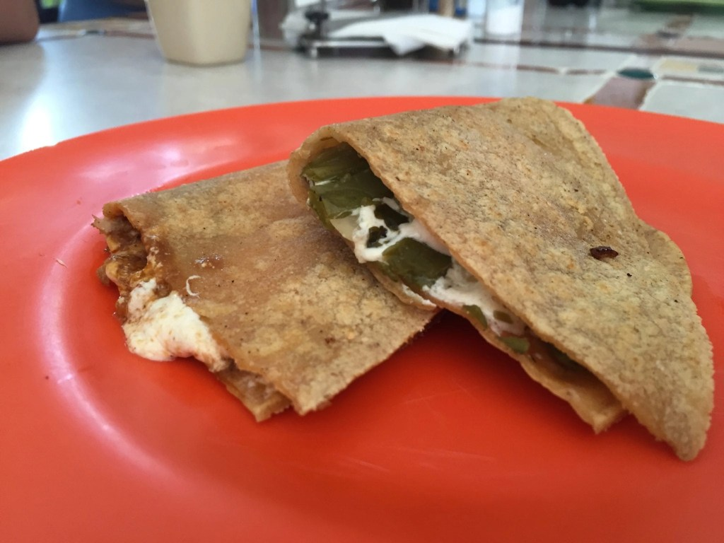 Authentic Quesadillas in Cozumel found on our Cozumel Chef Food tour