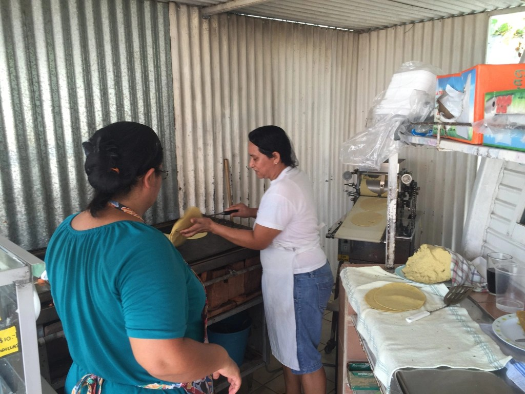 handmade corn tortillas in Cozumel