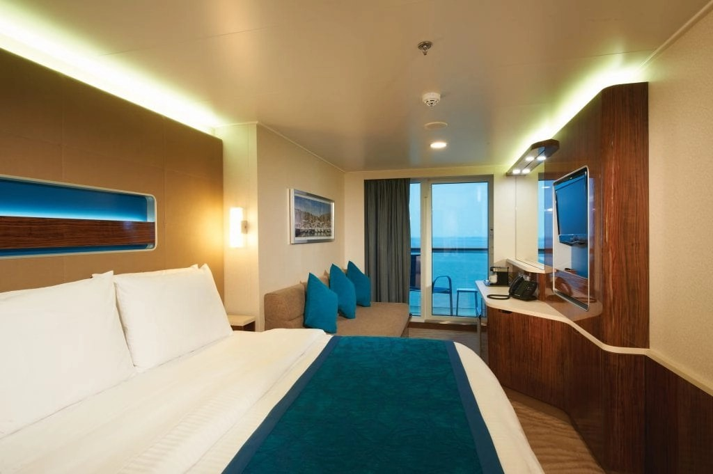 Balcony room on the Norwegian Getaway