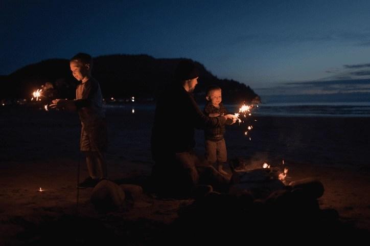 Oregon Bonfire on the Coast   Global Munchkins