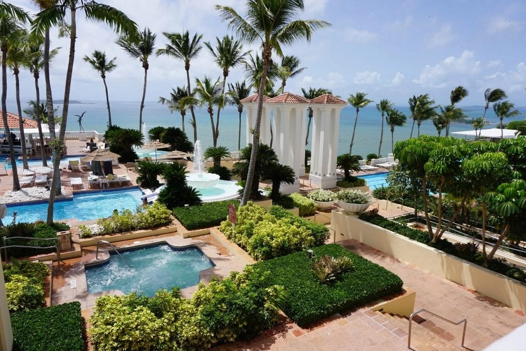 Pool area at El Conquistador Resort in Puerto Rico