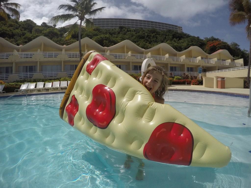 Pizza Float at El Conquistador in Puerto Rico