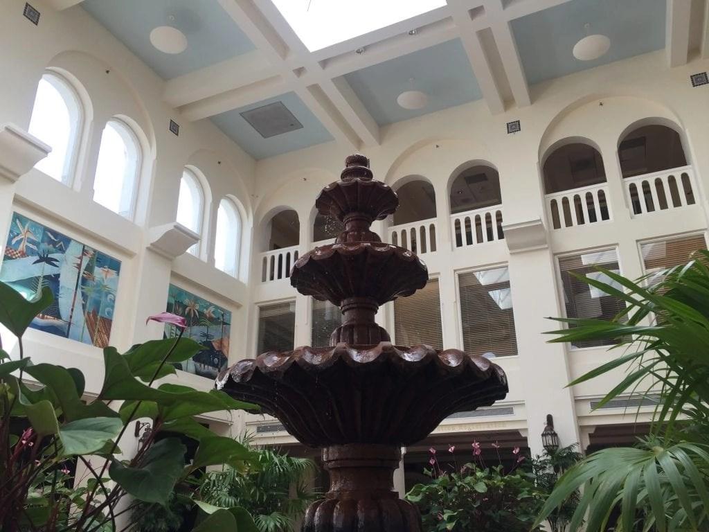 Fountain in El Conquistador Lobby Puerto Rico