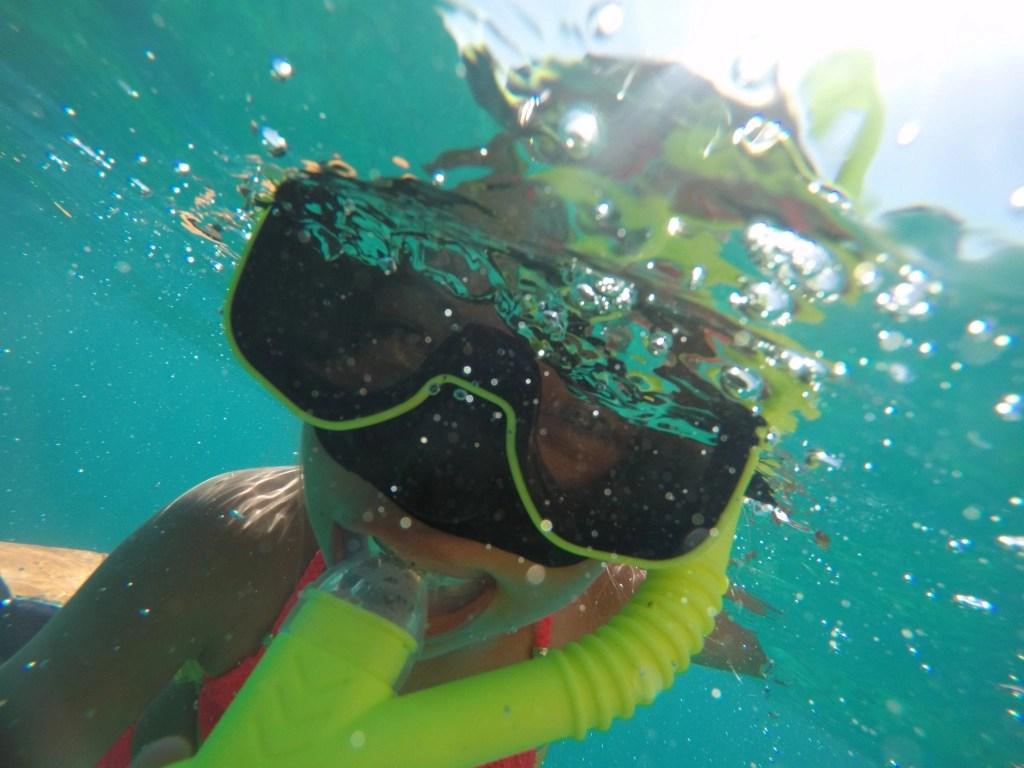 Snorkeling at El Conquistador Resort.