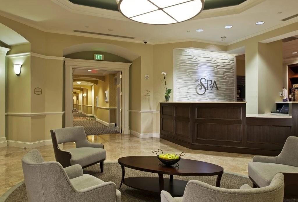 Spa Lobby at the Ballantyne Resort in NC   Global Munchkins