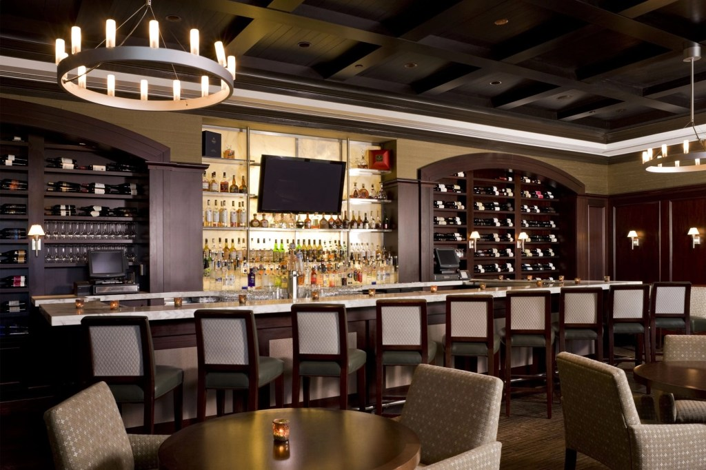 gallery bar at the Ballantyne Hotel in NC