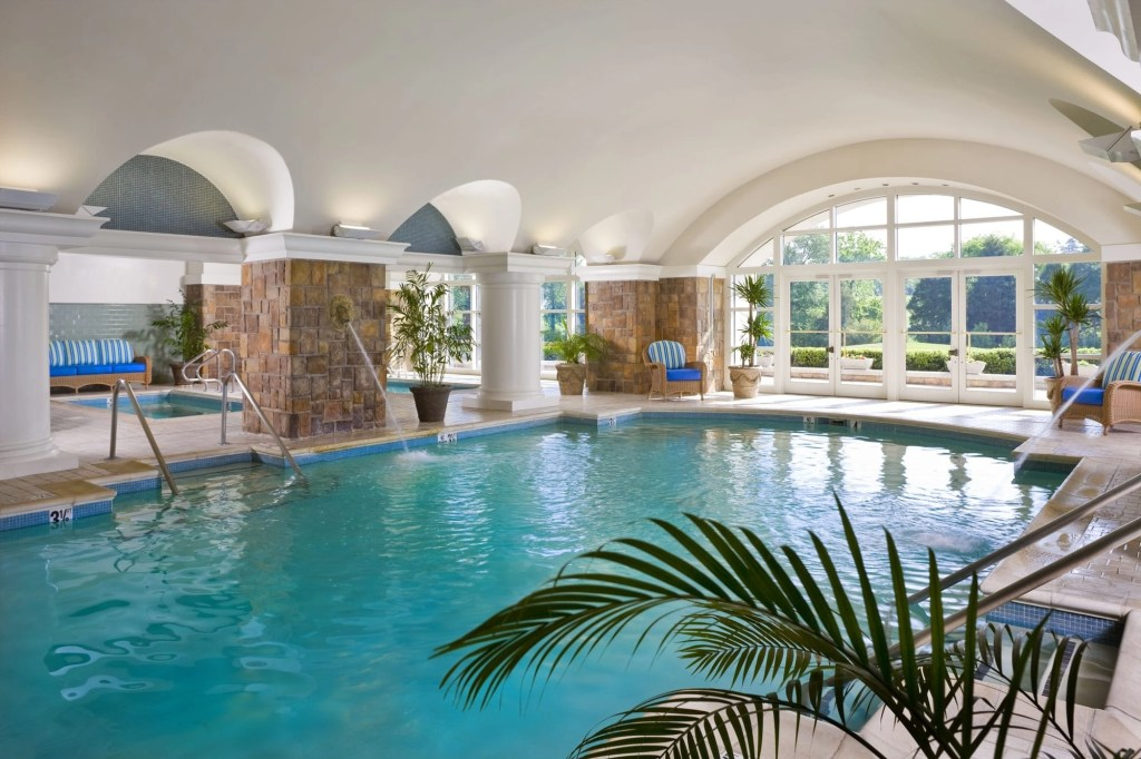 Grotto Indoor Pool at the Ballantyne Resort in NC | Global Munchkins
