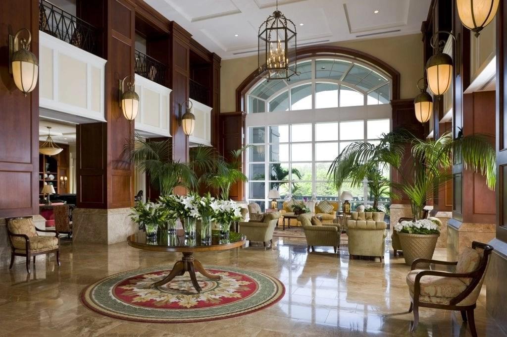 lobby at the Ballantyne Resort in NC   Global Munchkins
