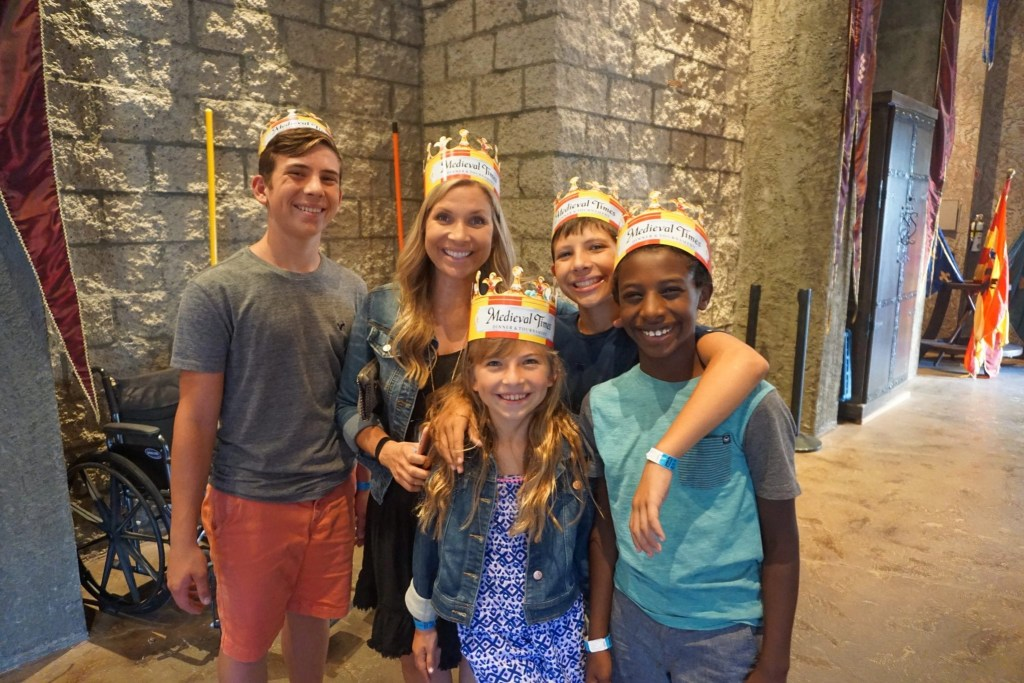 Multi-Racial Family at Medieval Times   Global Munchkins