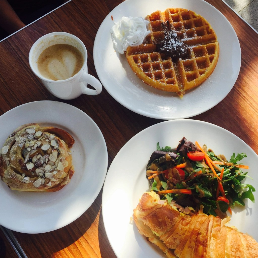 A table of food from Laurent's Le Coffee Shop in Temecula | Global Munchkins