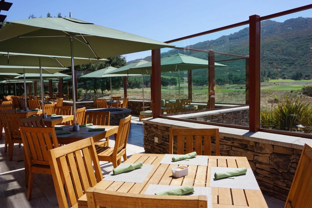 View on patio at Journey's End at Pechanga. Great place to start your date night in Temecula. | Global Munchkins