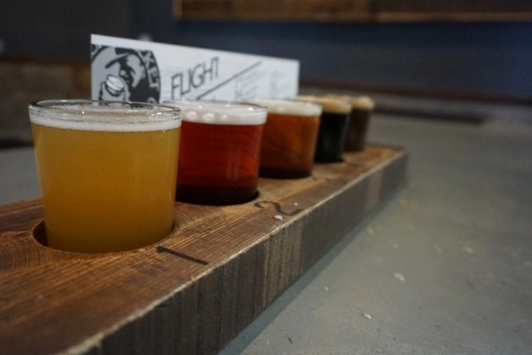Tasty beer flight from Black Market Brewing Co. located in Temecula CA | Global Munchkins