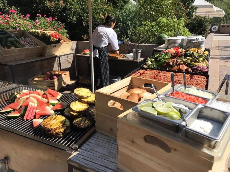 Lovely spread of food at the Loews Ventana Canyon Resort Brews, Blues and BBQ Brunch in Tucson Arizona