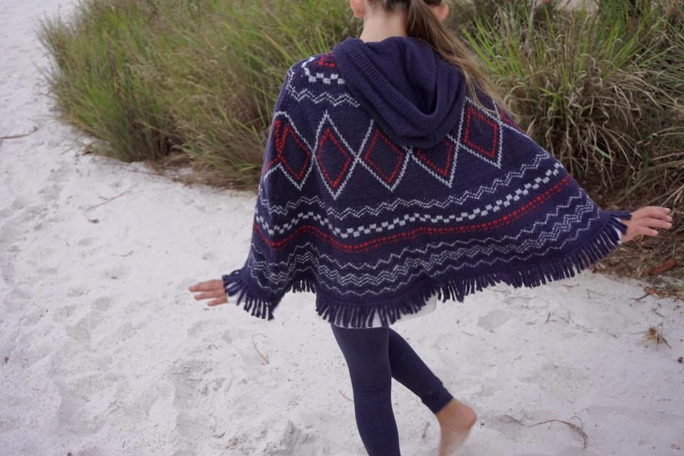 Knit Poncho for girls
