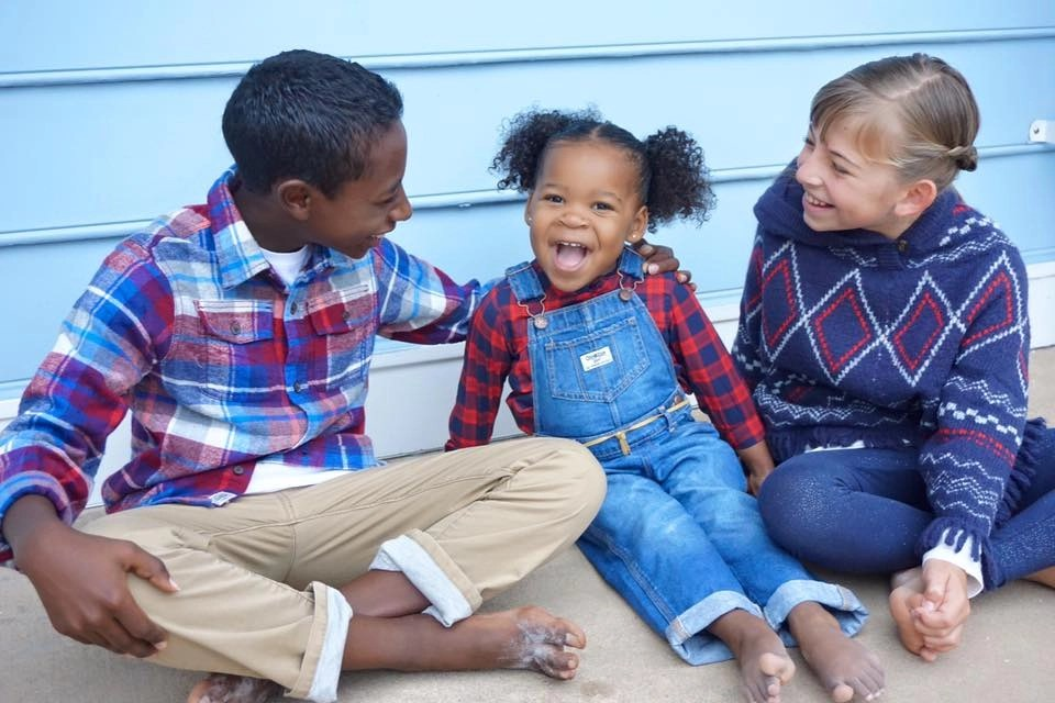 Adorable adoptive family
