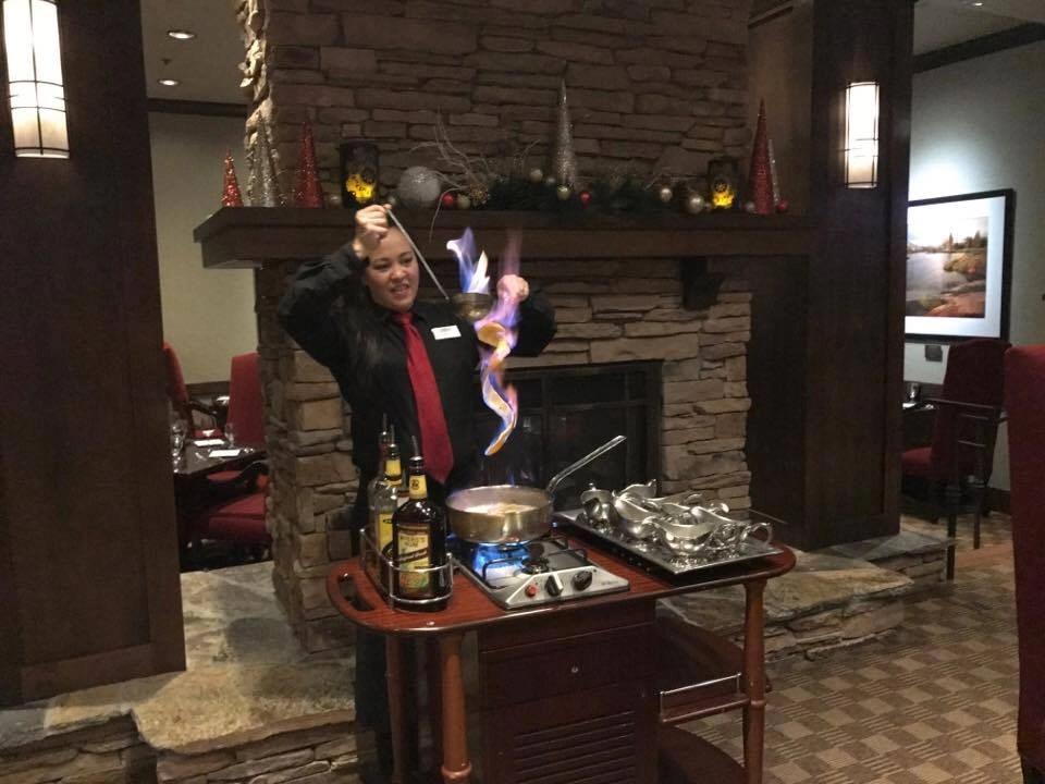 Bananas Diablo at Tenaya Lodge's Ember's restaurant
