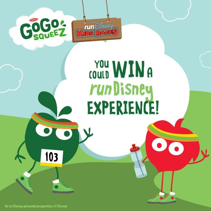 Win a Trip to Disneyworld from GoGo squeeZ. See post for details