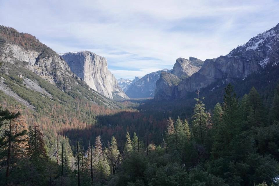 This is Tunnel View!! You come out of a long tunnel on the drive into Yosemite Valley and come across this incredible scene on your way out. It's magical!!!