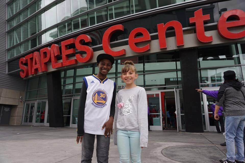 Staples Center with Kids