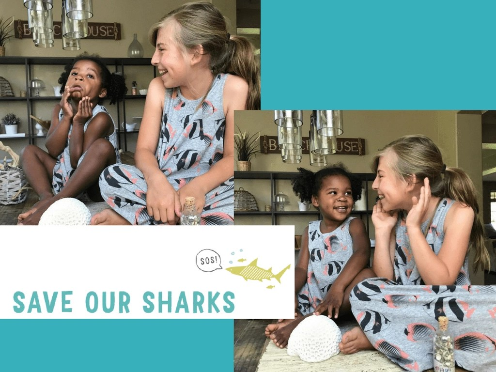 Save Our Sharks (SOS) Campaign. You could win $1,000 from Tea Collection + Nat Geo Book Bundle