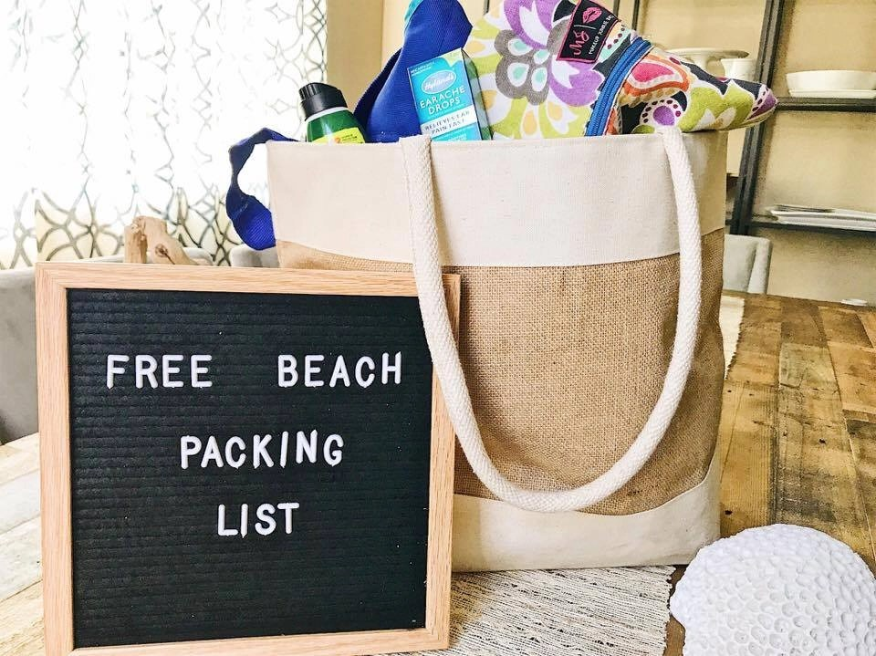 free printable beach or lake packing list with everything your family needs for a beach vacation