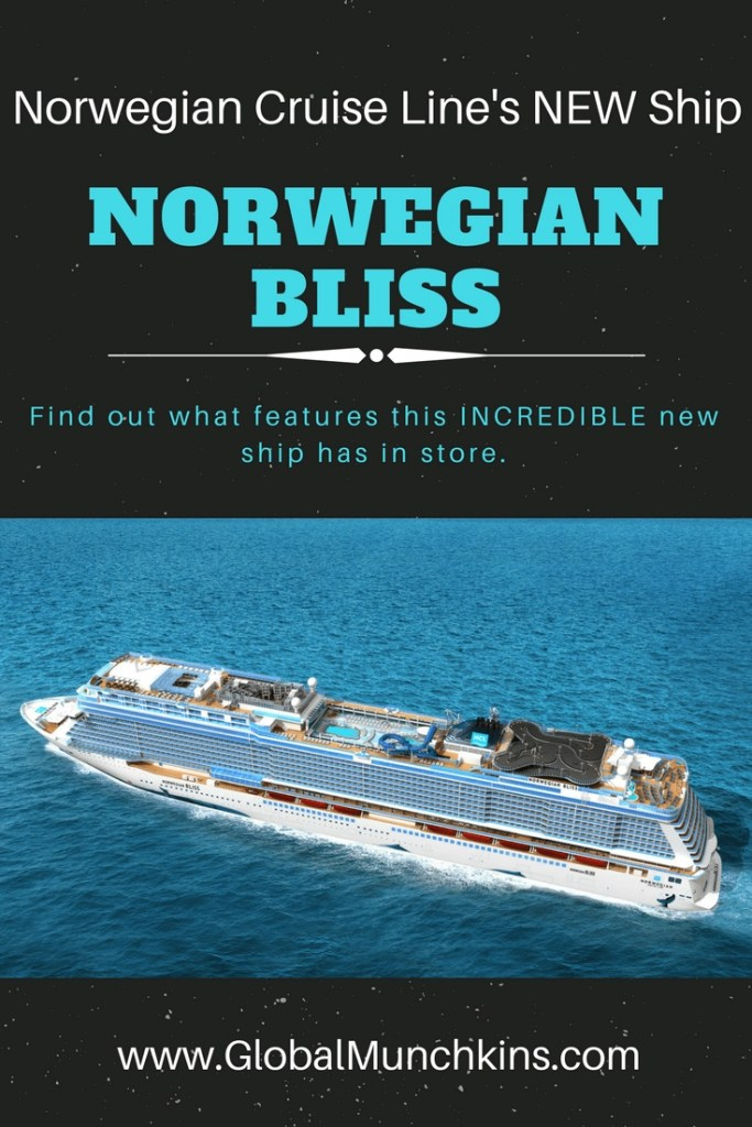 Norwegian Bliss. The newest ship for Norwegian Cruise Line is launching itineraries for Summer 2018. Come see what features we can't wait to check out on board this incredible new ship. Hint- The race track is definitely one of them.