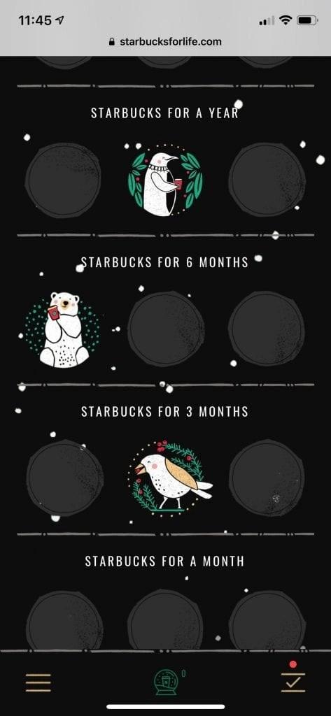 Starbucks for Life 2018