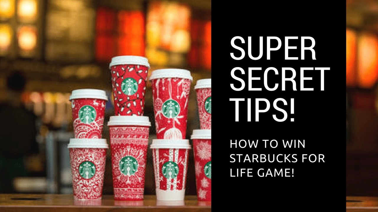 Starbucks for Life is Back! Super Secret Ways to Win!  sc 1 st  Global Munchkins & Starbucks for Life is Back! Here is How to Play for FREE