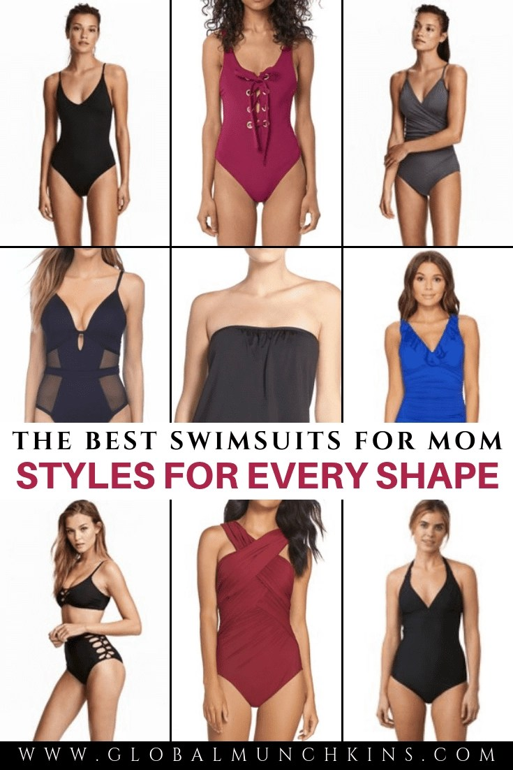 Finding the perfect swimsuits for mom bodies has to be one of the toughest tasks us women face. Between saggy boobs and a few extra pounds around our waist (#KeepinItReal) it's not easy to find something that looks flattering while being comfortable enough to chase toddlers in. I came up with the ultimate list of mom bathing suits and you are going to LOVE it! #swimsuits #beachstyle #formom #summer #bathingsuits