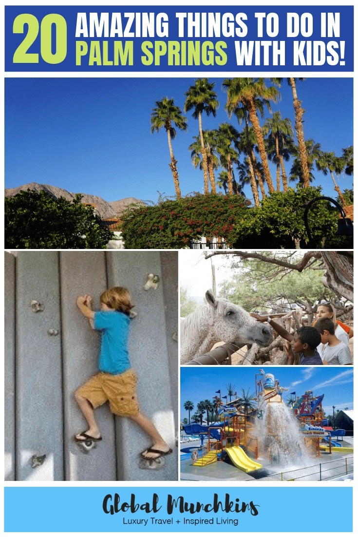 Palm Springs is better known or their trendy hotels, stunning golf courses, world-class spas, amazing shopping and their fantastic dining scene. But, guess what?? There is a ton of things to do in Palm Springs with kids. Check out our top 20 things to do in Palm Springs with kids! #palmstrings #travelguide #vacation #travel #familyvacation #travelwithkids