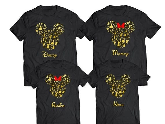 picture about Free Printable Disney Silhouettes identified as 17 Incredible Disney Family members Shirts for your Getaway [+3 Unusual