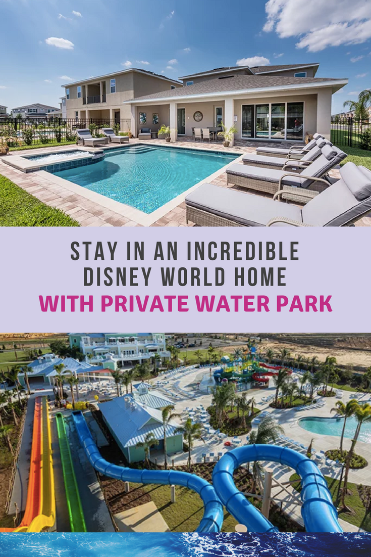Disney World Home with their very own water park. You have to check out this Orlando Villa. #disneyworld
