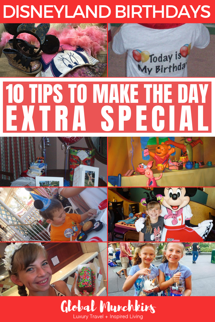 With all of our experience, we've learned a thing or two about making the most out of your Disneyland Birthdays, so below are some tips to help you make your day EXTRA magical! #disneyland #birthday #celebration #tips #birthdaytips #magical #disney