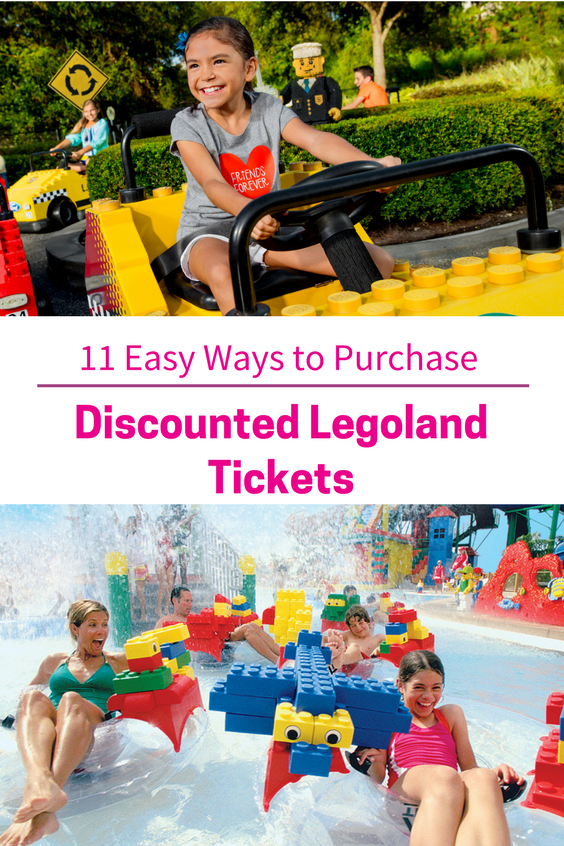 There are 11 easy ways to save on Legoland Tickets. Here is how to do it. #legoland #tickets