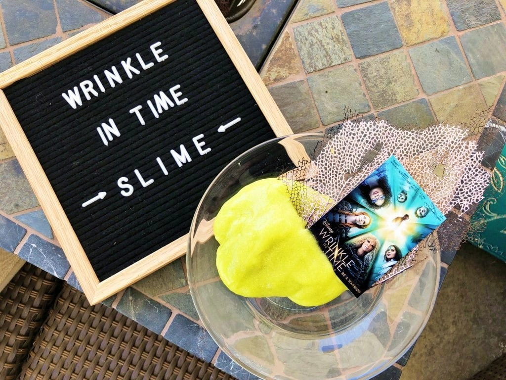 Wrinkle In Time Slime Recipe + FREE Printable Coloring Pages