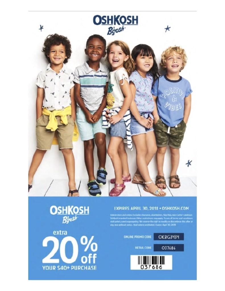 OshKosh B'gosh coupon code