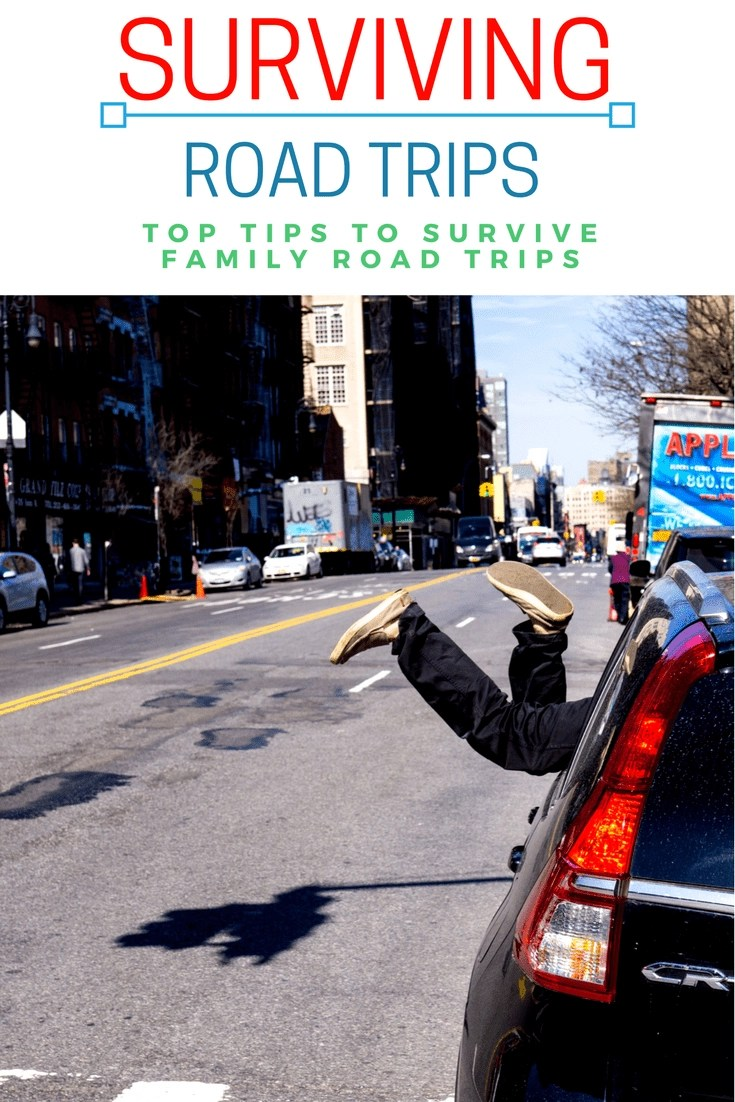 Surviving a Family Road Trip - What to bring on a road trip. #roadtrip #summervacation #vacation