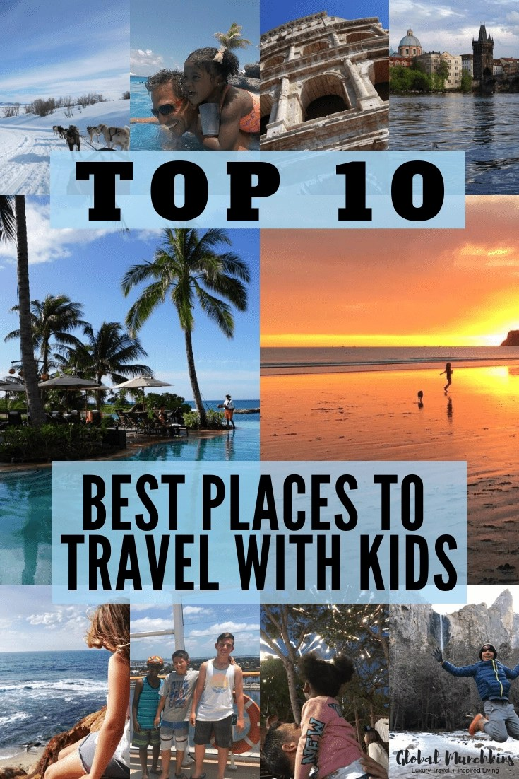 Finding the perfect place to spend your family vacation can be a daunting task. So, when I come across kid-friendly destinations that I think are incredible finds, I get super excited to share them. In the last few years we traveled a ton (48 trips total), here are the following 10 best places to travel with kids. Get ready to take notes, these places are an absolutely amazing adventure with kids. #top10places #travelwithkids #travel #traveltips #familyvacation #familytravel #bestplaces #vacation