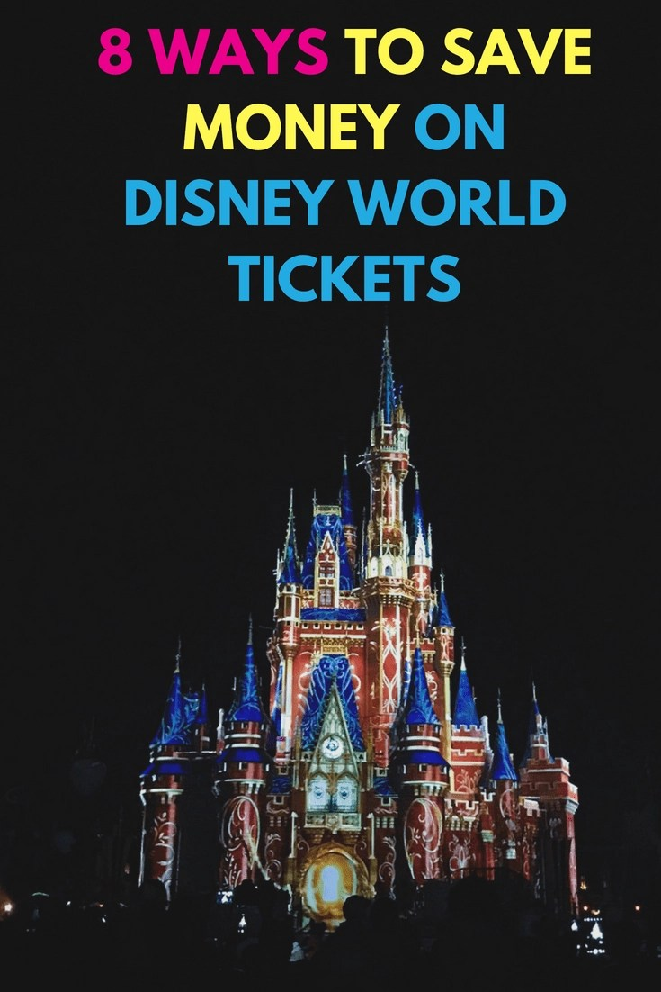 8 Ways to Save Money on Disney World Tickets! Going to Disney World can be expensive here are 8 super easy ways to save money on Disney Tickets. #disney #disneyworld