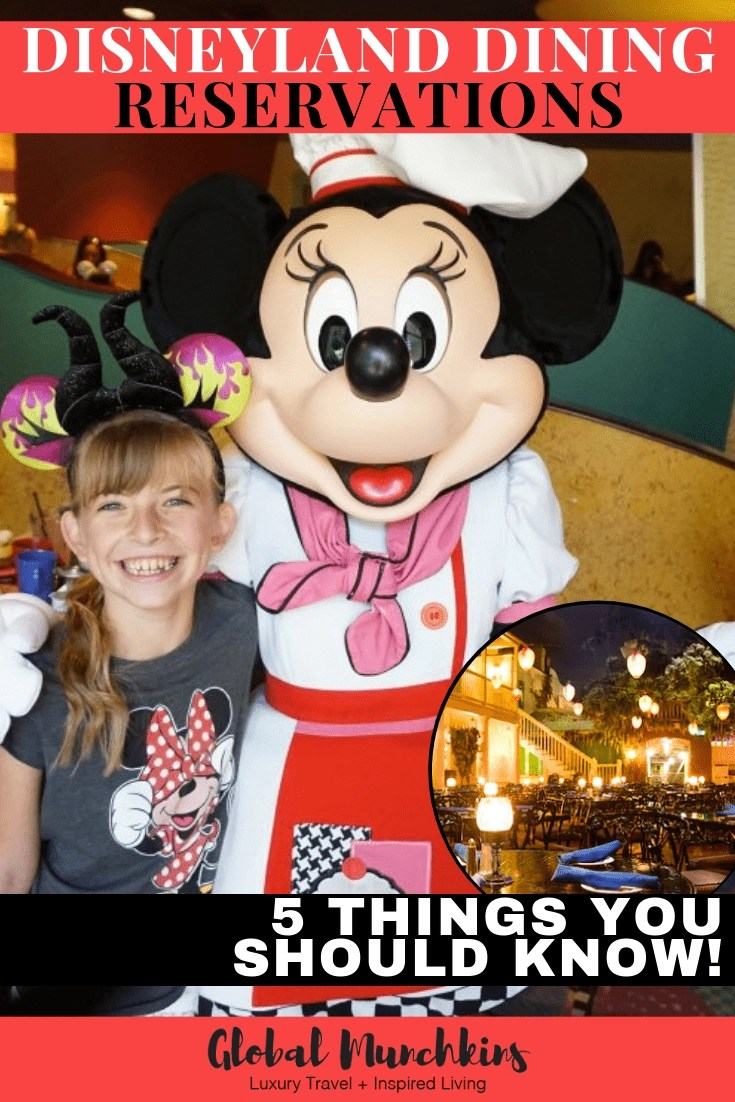 When planning a trip to Disneyland, it is always a good idea to plan ahead and make some Disneyland Dining reservations as soon as possible! Here are 5 things you should know about booking Disneyland Dining Reservations. #disney #disneyland #dining #diningreservations #tips #disneytrips #travel #traveltips #vacation #trip