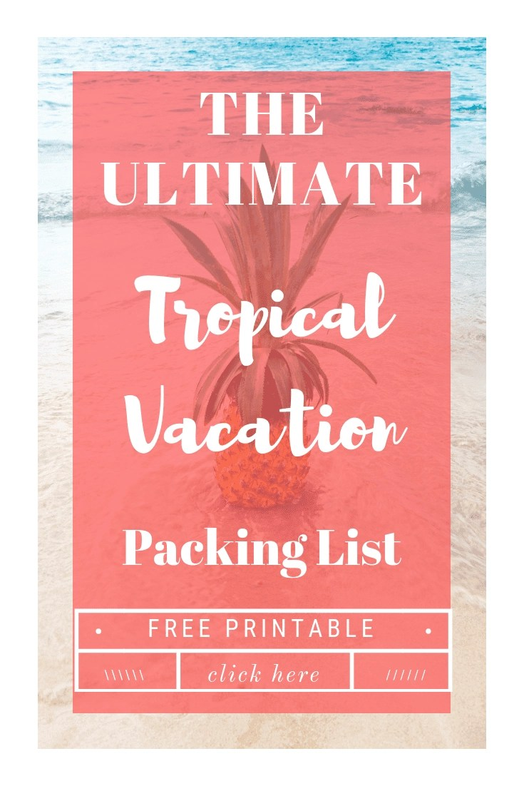 Tropical Vacation Getaway? We've got you covered with the ULTIMATE Tropical Vacation Packing List including a FREE printable so you can check off as you pack!! #packinglist #cruise #Caribbean #vacation . #sponsored #OMAGONHAL @HALCruises #OMAGInsiders @OprahMagazine