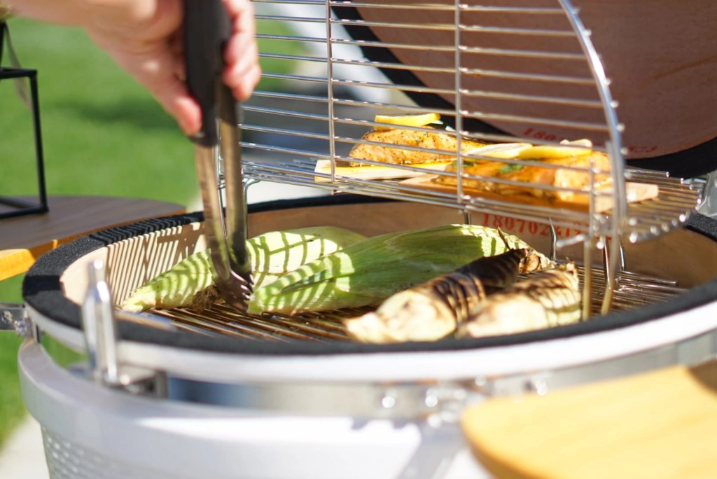 I love that my Kamado Grill offers multi-level cooking grates so that I have more surface to cook on. That is one reason this is the best kamado grill. For more reason check out my post.