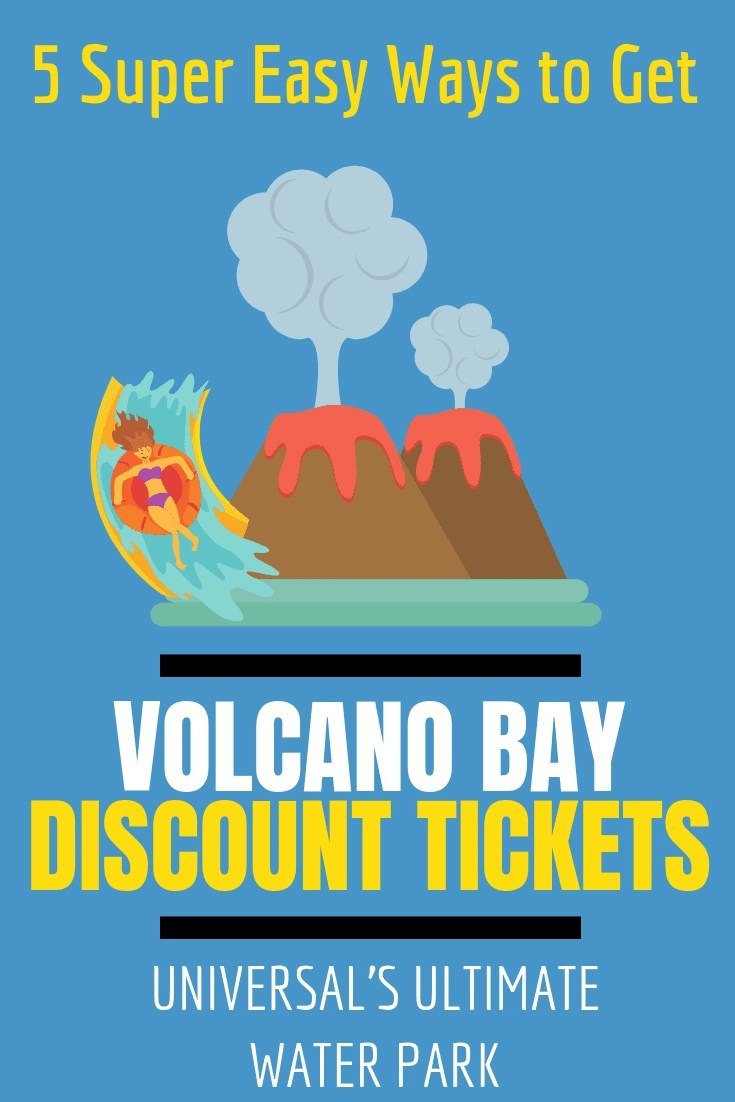 5 Super Easy Ways to Get Discount Universal Volcano Bay Tickets! We've got 5 great options to get discounted universal volcano bay tickets. Snap up a bargain in the off season winter months or in the height of summer too. #volcanobay #universal