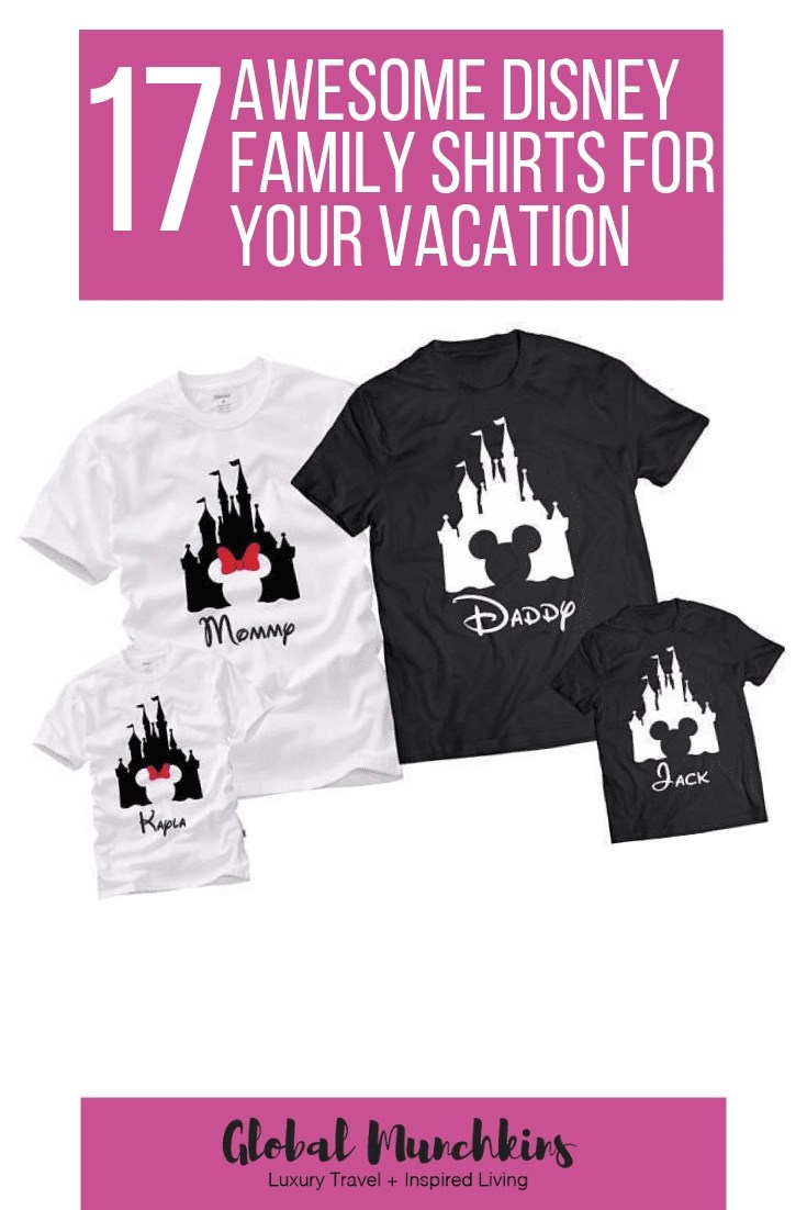 Here are some of the best Disney Family Shirts for your upcoming Disney Vacation as well as some weird ones. #disney #disneyfun #tshirts #familyshirts #familyvacation #vacation