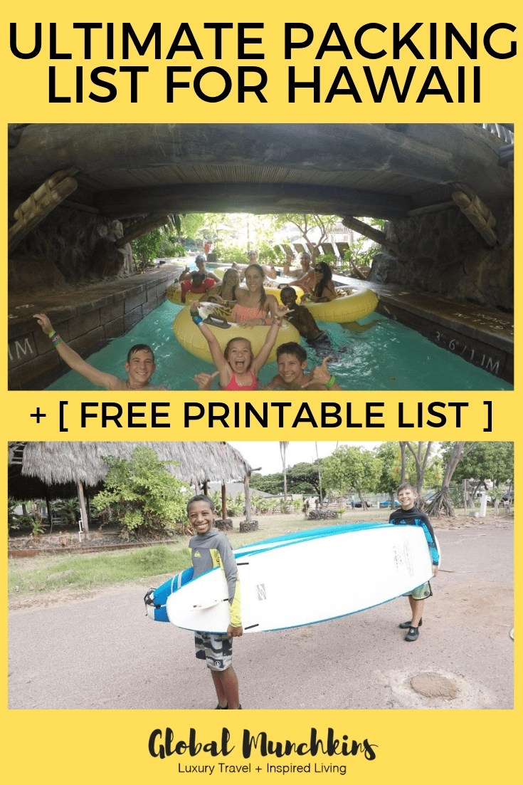 photo relating to Printable Packing List for Hawaii identified as Final Packing Checklist for Hawaii + [ No cost Printable Listing ]