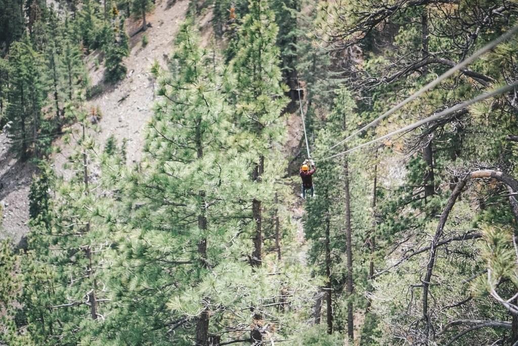 ziplining in California