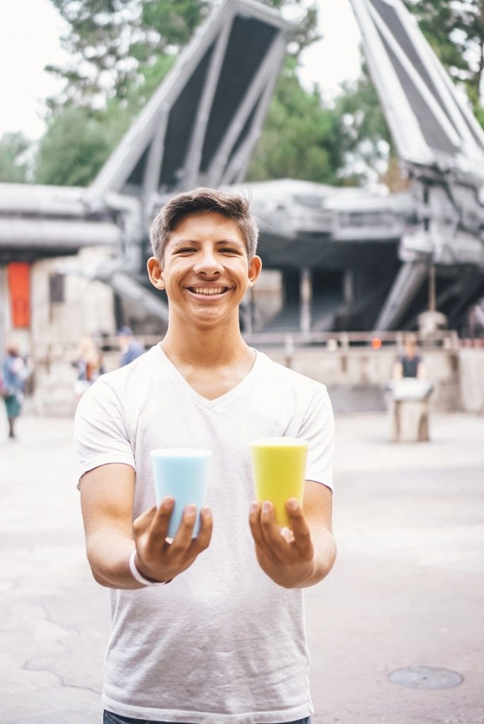 Blue & Green Milk at Star Wars Land