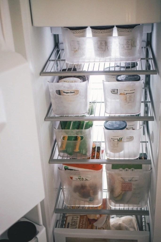Frezzer goals, freezer organization, Kitchen organization, white kitchen, custom kitchen, custom cabinetry, pantry organization