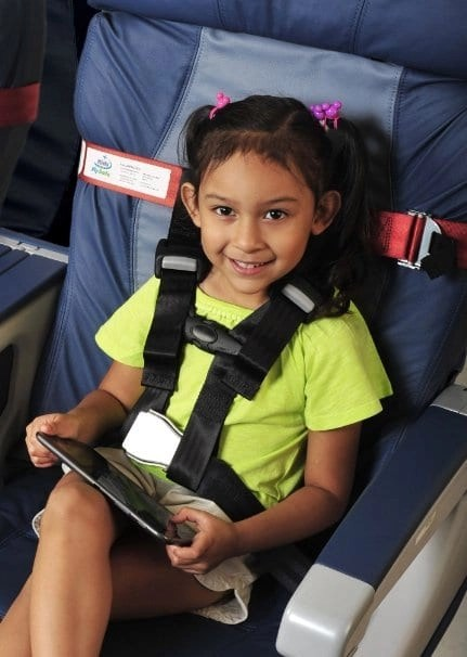 flying with a baby - cares travel system