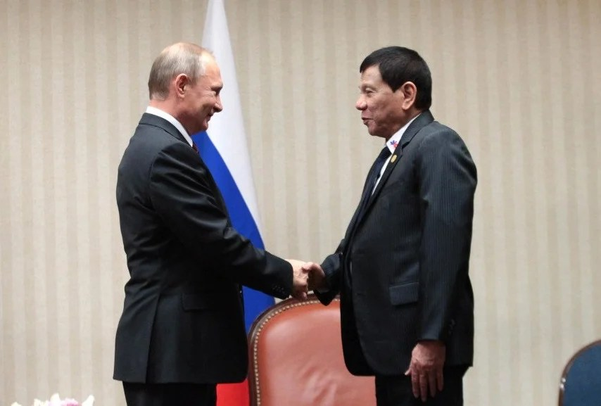Image result for Duterte and Putin, photos